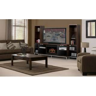 Dimplex Marana Electric Fireplace with Glass Ember Bed in Black