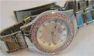 U2 100 Crystal Stainless Steel Designer ladies watch