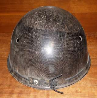 Coal Miners Mining Safety Hard Hat Cap Black Used Good Cond