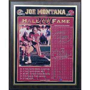 Joe Montana San Francisco 49ers Hall of Fame 2000 Healy