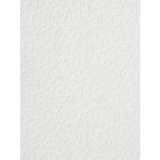 Paintable Large Acanthus Scroll Wallpaper, 21 Inch by 396 Inch, White