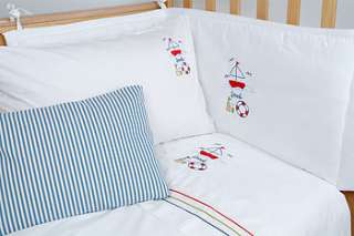beach babies cot bed duvet cover set by babou
