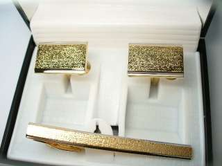 GOLD FLORENTINE RECTANGLE TIE BAR GIFT BOX WEDDING FORMAL GROOM USHER