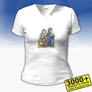 1778 YAMAHA VALENTINO ROSSI & MAX BIAGGI Womens t shirt