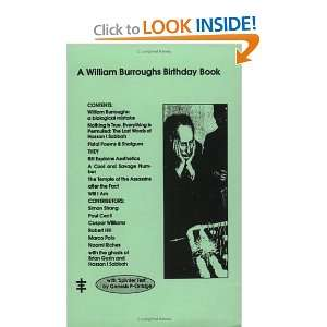 William Burroughs Birthday Book (9781871744903) Anonymous, Paul Cecil