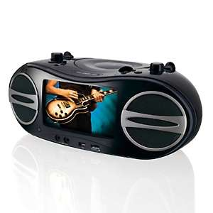GPX Portable DVD, CD and Radio Music and Movie Player with 7 LCD
