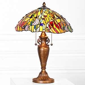 Tiffany Style Jeweled Fish Table Lamp