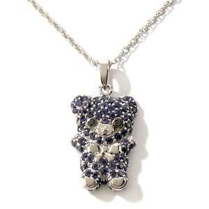 by Palermo Gemstone Teddy Bear Pendant with 18 Chain