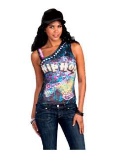 Hip Hop Graphic Tee  Cheap 80s Halloween Costume for Accessories