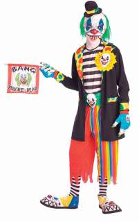 Adult Scary Evil Clown Costume   Clown Costumes