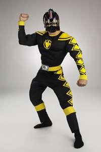 Adult Muscle Black Power Ranger Costume   Power Rangers Costumes