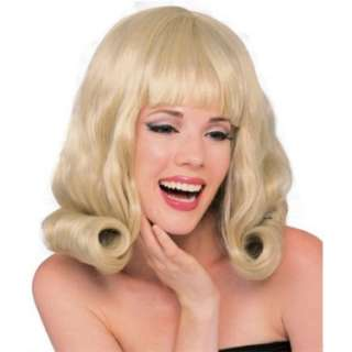 Halloween Costumes Flip Wig (Blonde) Adult