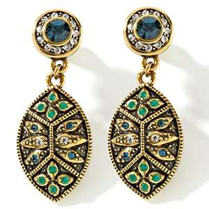 Heidi Daus Byzantine Beauty Crystal Drop Earrings