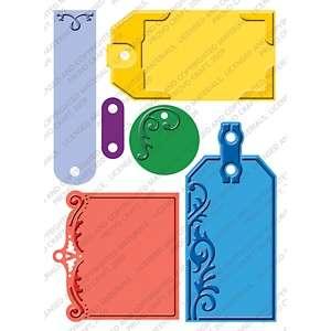 Cuttlebug Plus 5 x 7 Embossing Folder   Embossed Tags