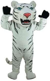 Albino Tiger Mascot Costume  White Tiger Mascot Costume