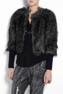 MICHAEL Michael Kors  Faux Chettah Fur Jacket by MICHAEL Michael Kors