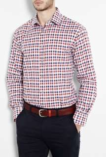Paul Smith London  Red Indigo Bold Gingham Classic Fit Shirt by Paul