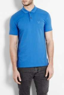 Marc by Marc Jacobs  Blue Embroidered Logo Polo Shirt by Marc By Marc