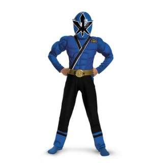 Power Rangers Samurai   Blue Ranger Muscle Child Costume   Includes