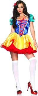 Fairy Tale Snow White Adult Costume   Includes Dress and headband