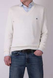 Off White Cotton V Neck Knit by Vivienne Westwood   White   Buy