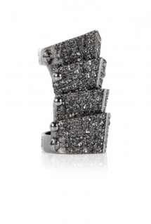 Vivienne Westwood Accessories  Diamante Armour Ring by Vivienne