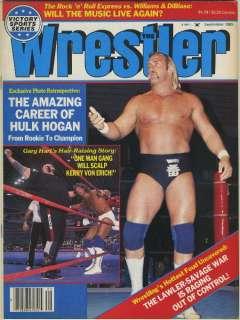 The Wrestler Magazine Sep 1985 HULK HOGAN + Kerry Von Erich