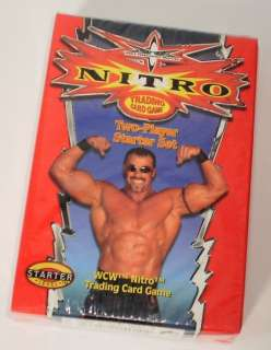 WCW NITRO Wrestling Trading Cards Game 2 Player Starter