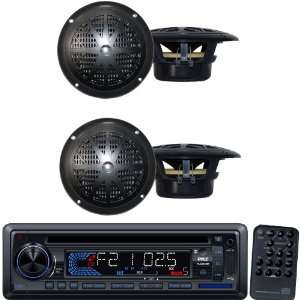 Pyle Marine Radio Receiver and Speaker Package   PLCD34MRW AM/FM