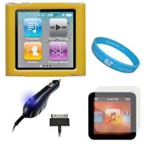 iPod Nano 6th Generation + Apple Licensed Cellet Car Charger with Blue