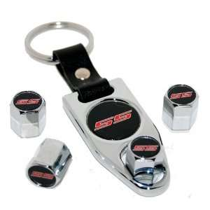 2010 2011 Camaro SS Valve Stem Caps Key Fob Chain Set: Automotive