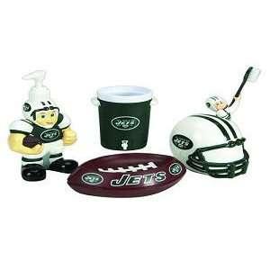 York Jets 5 Piece Team Bathroom Set   NFL Football
