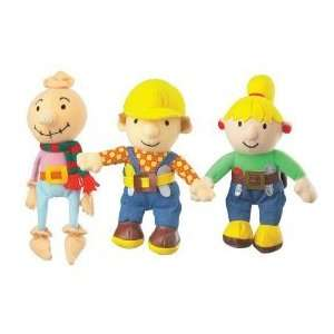 Bob the Builder Set of Three Beanies, Bran Bags, Plush