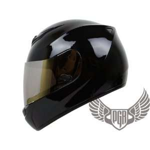 PGR Arrow Full Face DOT Approved Motorcycle Helmet (Small, Gloss Black