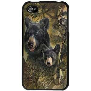 Jungle Black Bear Iphone 4 Case (iPhone 4 S)   (Black