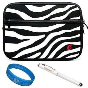 Black White Zebra Neoprene Sleeve Protective Carrying Case