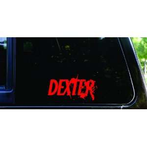 Blood spatter Dexter die cut vinyl decal / sticker (red