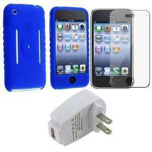 Blue Premium Silicone Skin Protective Cover Case Sleeve