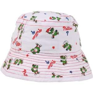 New Era Philadelphia Phillies Infant Bucket Hat   White: