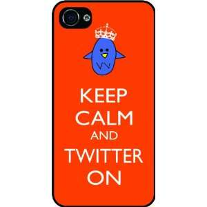 Twitter On Orange Color Rubber Black iphone Case (with bumper) Cover