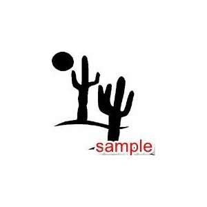 FLOWERS AND PLANTS CACTUS 11 WHITE VINYL DECAL STICKER