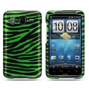 com HTC Inspire 4G Crystal Black Green Zebra Skin Premium Design Hard