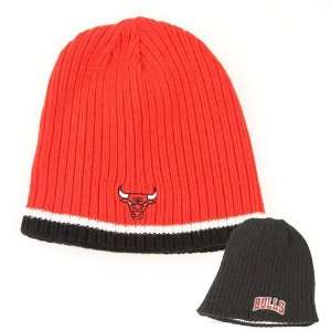 Chicago Bulls Ribbed Reversible Knit Beanie: Sports