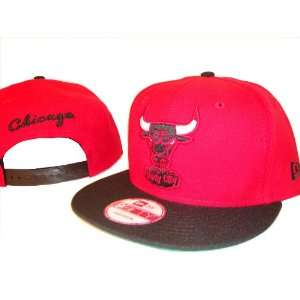 Chicago Bulls New Era 9Fifty Red Adjustable Snap Back Baseball Cap Hat