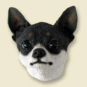 Chihuahua, Black/White Dog Head Magnet (2 in) Pet