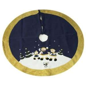 St. Louis Rams NFL Snowman Holiday Tree Skirt (48 inch)
