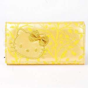 Hello Kitty Wallet Coin Purse Leather Like Gold Toys & Games