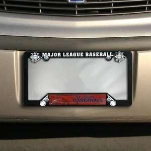 Louis Cardinals Black Plastic License Plate Frame