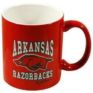 NCAA Arkansas Razorbacks Ceramic Mug Red Running Hog