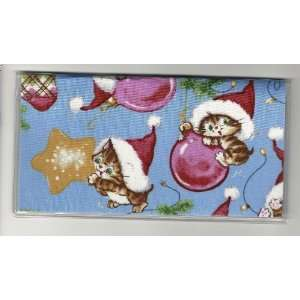 Checkbook Cover Christmas Kitten Kitty Cat Ornaments